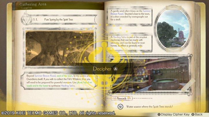 Atelier Lulua alchemyriddle decipher