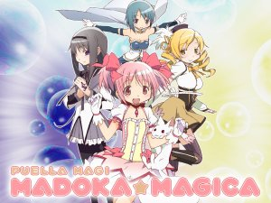 Madoka Magica Key Visual Otaku Rabbit Hole