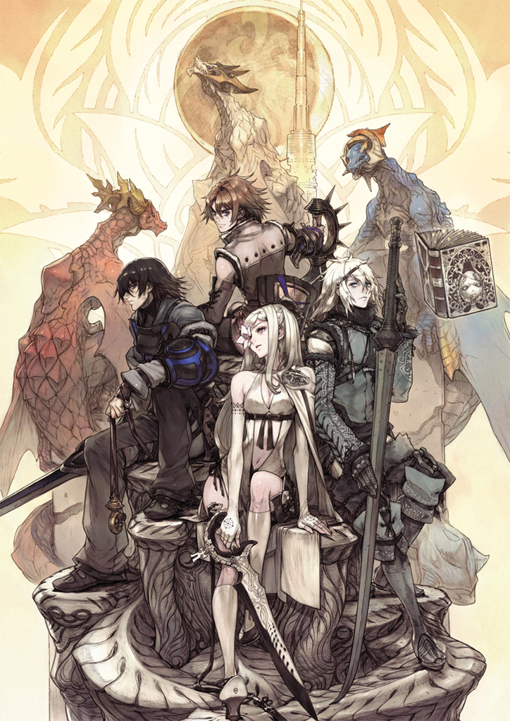 Drakengard and NieR All Protagoinist Art By Kimihiko Fujisaka Otaku Rabbit Hole